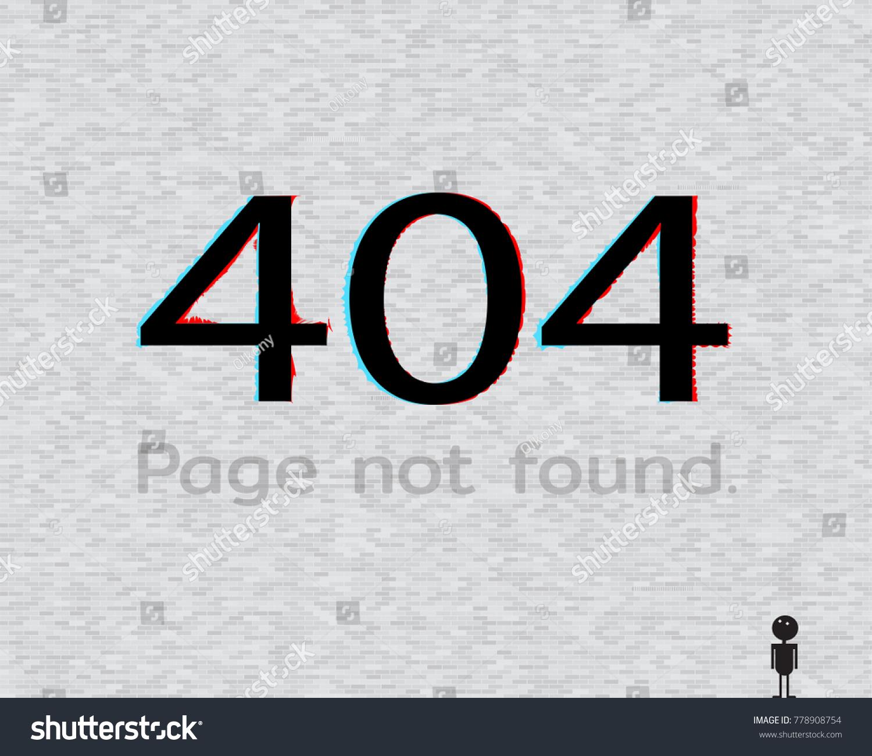 Error Page 404 Template Website Glitch Stock Vector 778908754 ...