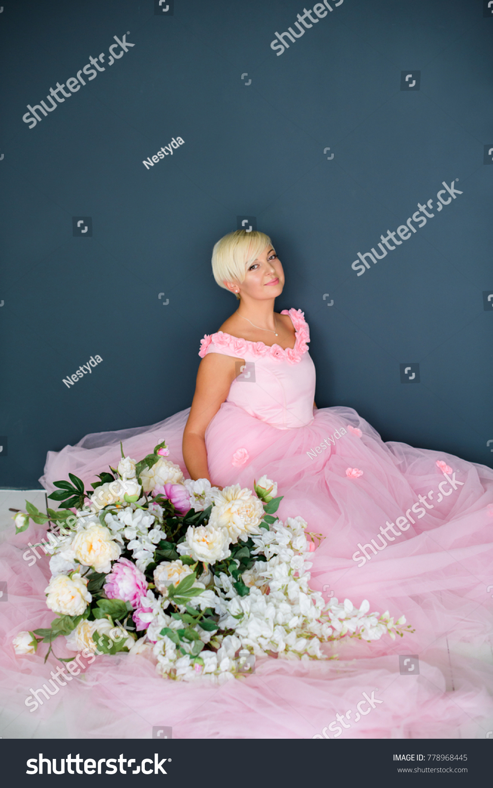 Beautiful girl beautiful pink dress pink stock photo royalty free the beautiful girl in a beautiful pink dress and pink in palace a unbeatable beauty izmirmasajfo