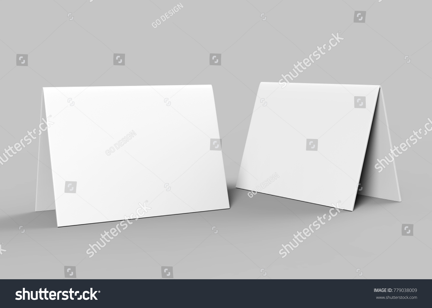 Royalty Free Stock Illustration of Table Tent Card Blank White 3 D ...