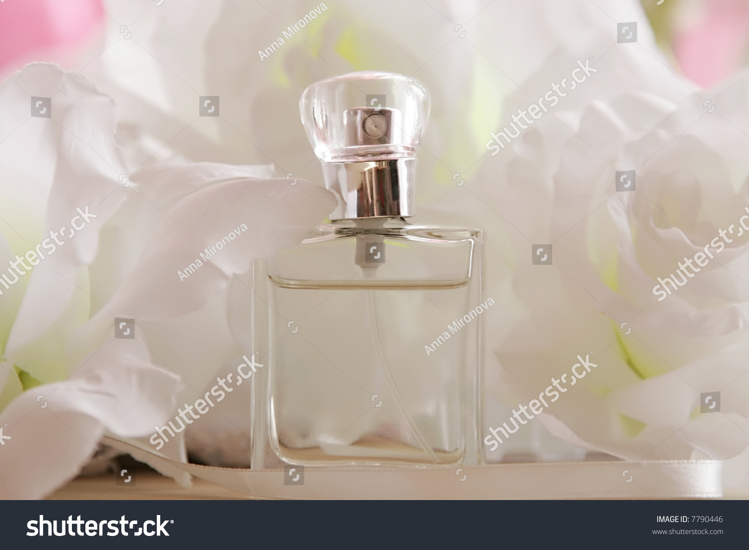 Perfume Bottle White Flower Stock Photo Edit Now 7790446