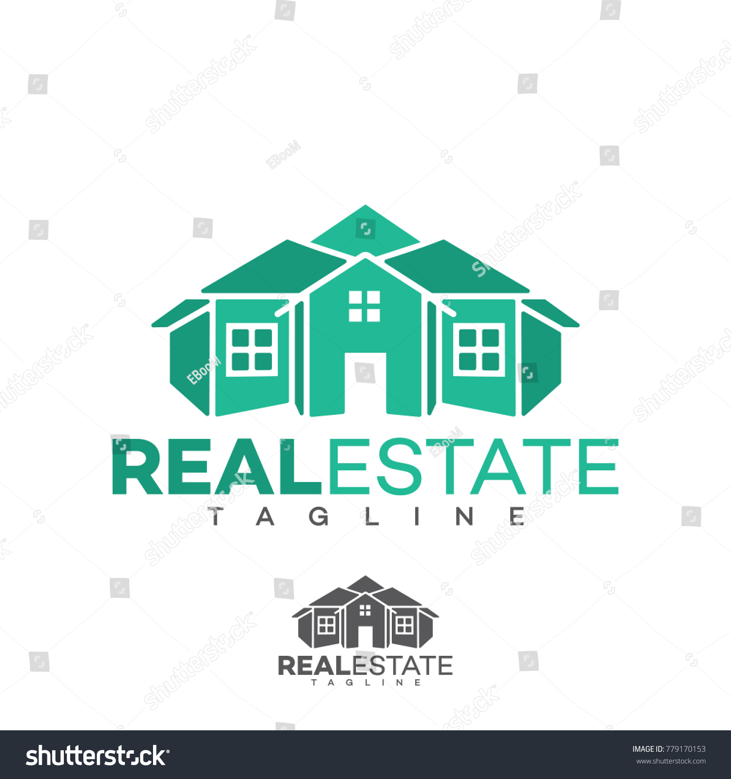 Modern Home Real Estate LogoHouse LogoVector Logo Template