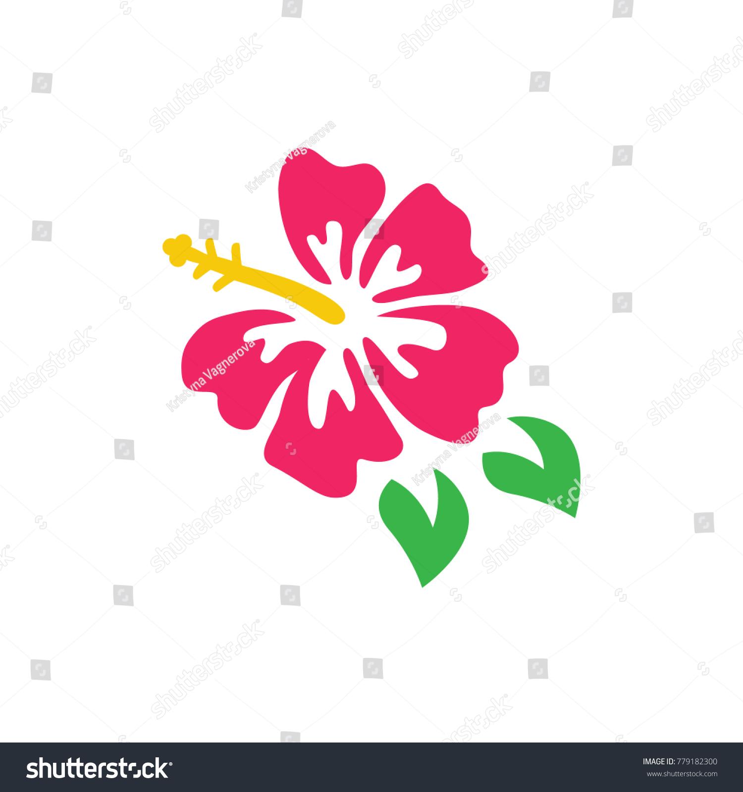 Pink Hibiscus Vector Graphic Hibiscus Flower Stock Vector Royalty