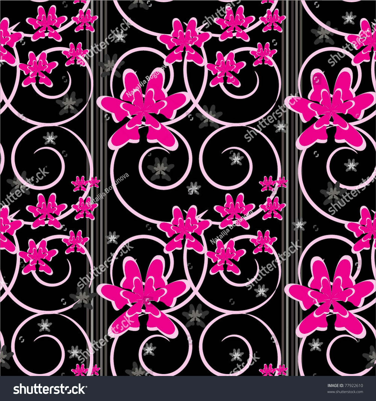 Seamless Background Pattern With Hot Pink And Black Color ...  Seamless Backgr...