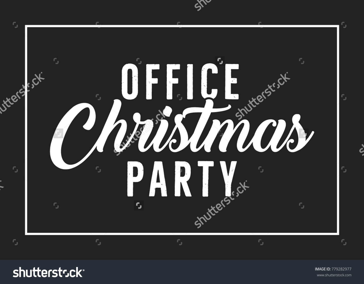 Office Christmas Holiday Party Vector Text Background | EZ Canvas