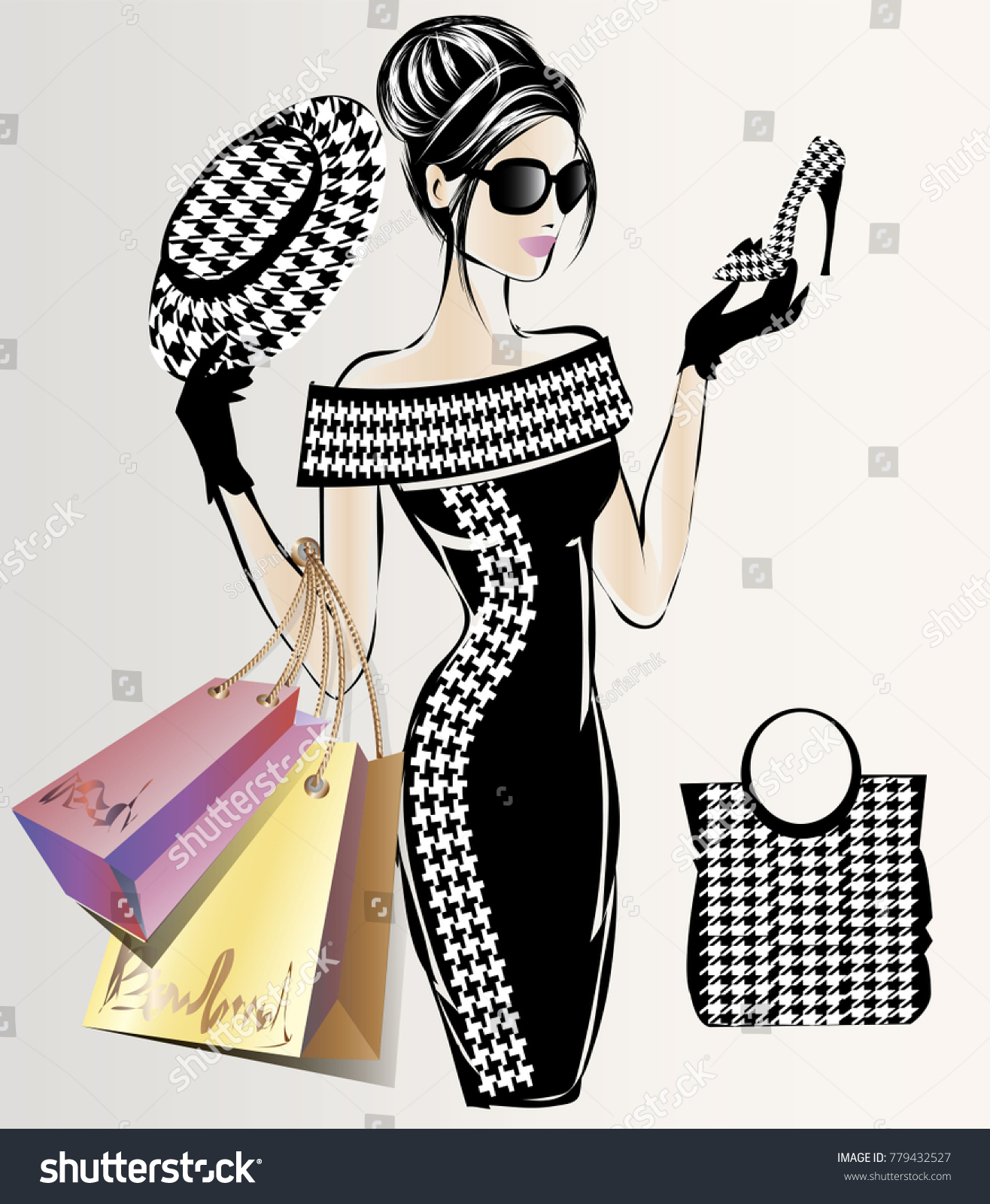Fashion Sale Banner Woman Fashion Silhouette Stock Vector Royalty Free 779432527