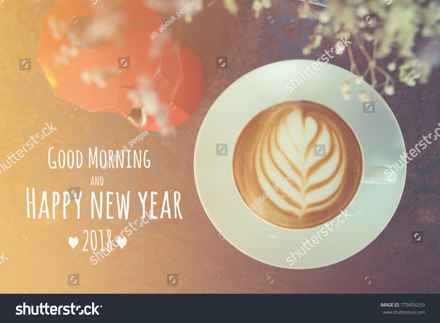 Quote Good Morning Happy New Year Stock Photo Edit Now 779454259
