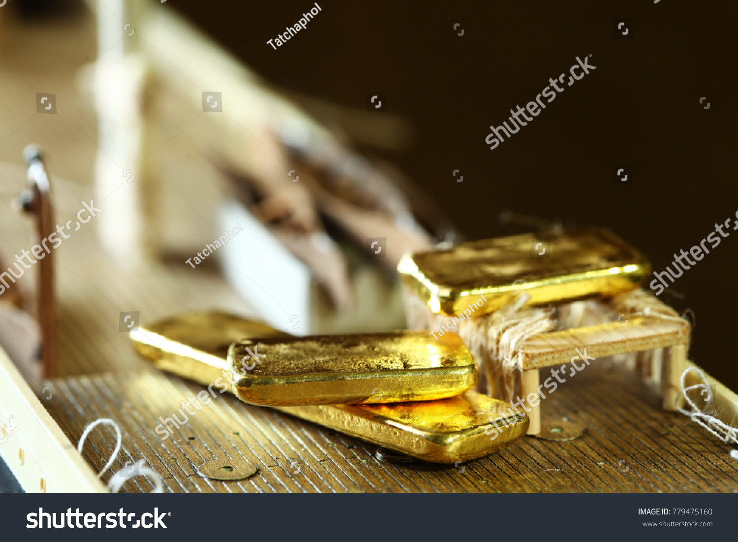 89197659fd35 Gold Bar Put Beside Lifeboat On Stock Photo (Edit Now) 779475160 ...
