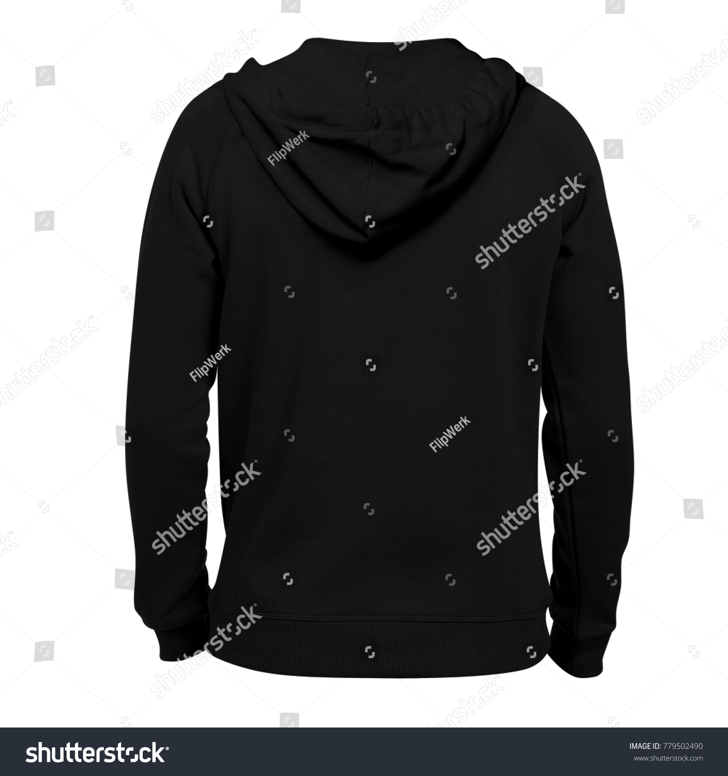 Blank hoodie photo template back view stock photo edit now blank hoodie photo template back view black color for mockup maxwellsz