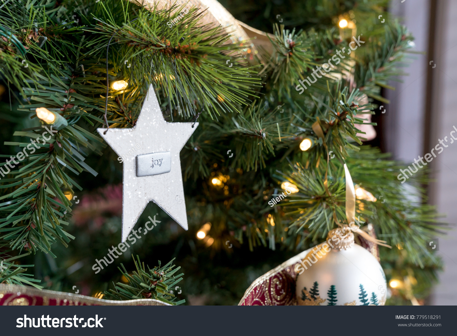 Star Shaped Ornament Word Joy On Stock Photo Edit Now 779518291