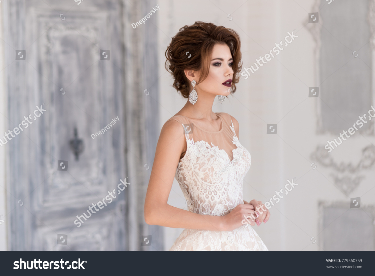 Morning Bride Beautiful Bride Stands Wedding Stock Photo Edit Now
