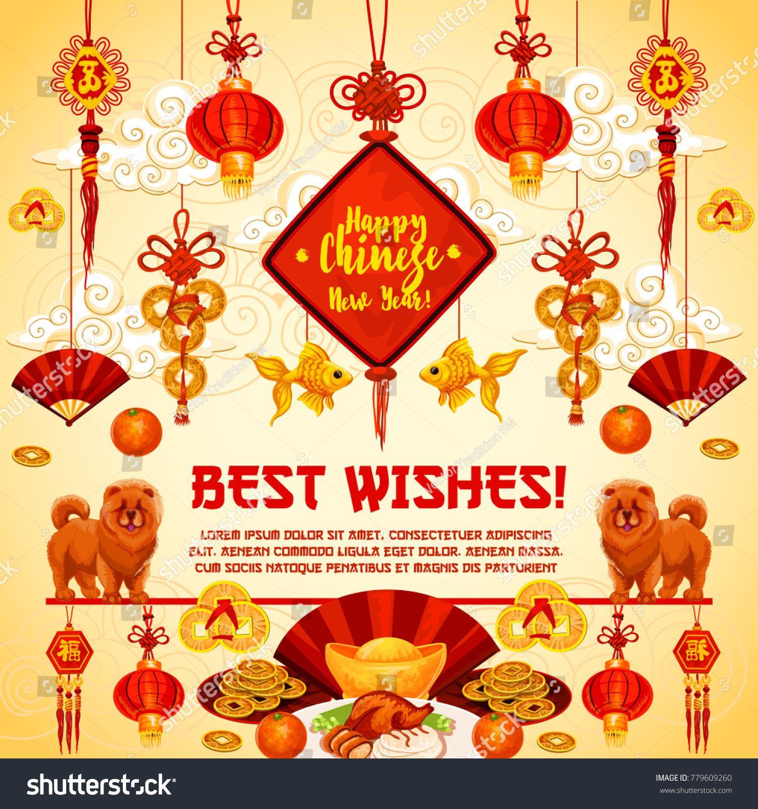 Happy chinese new year best wish stock vector 779609260 shutterstock happy chinese new year best wish greeting card for traditional china lunar new year holiday celebration buycottarizona Images