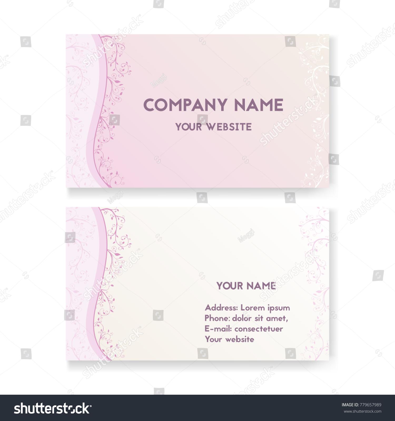 Template Business Card Wedding Salon Layout Stock Vector 779657989 ...