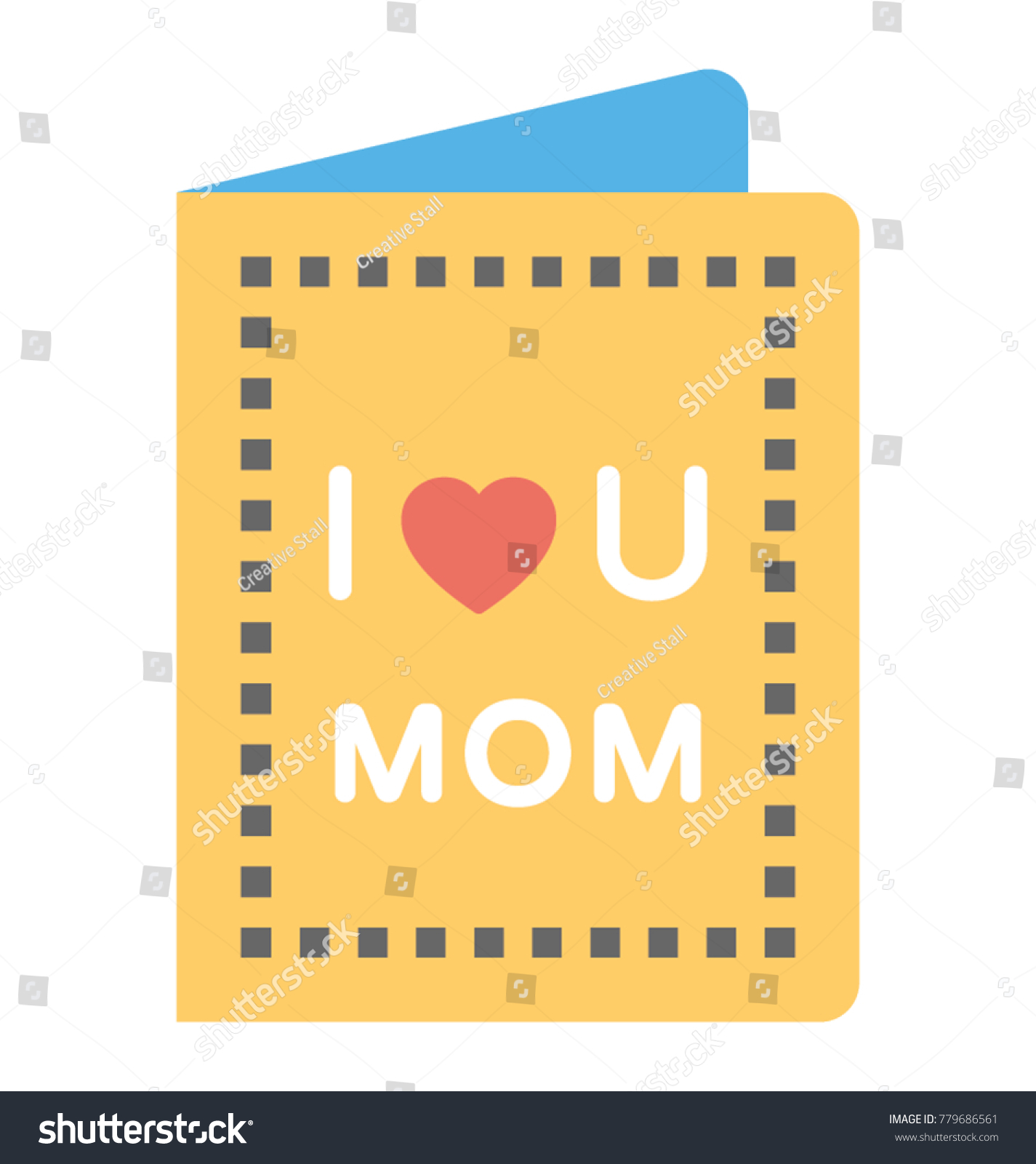 Heartfelt Greeting On Mother Day Stock Vector Royalty Free