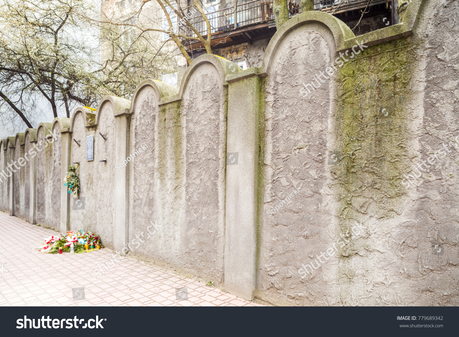 One Two Remnants Jewish Ghetto Wall Stock Photo 779689342 Shutterstock