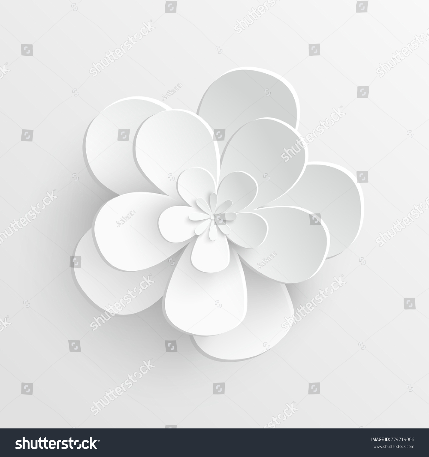 Paper Flower Lotus Cut Paper On Stock Vector 779719006 Shutterstock