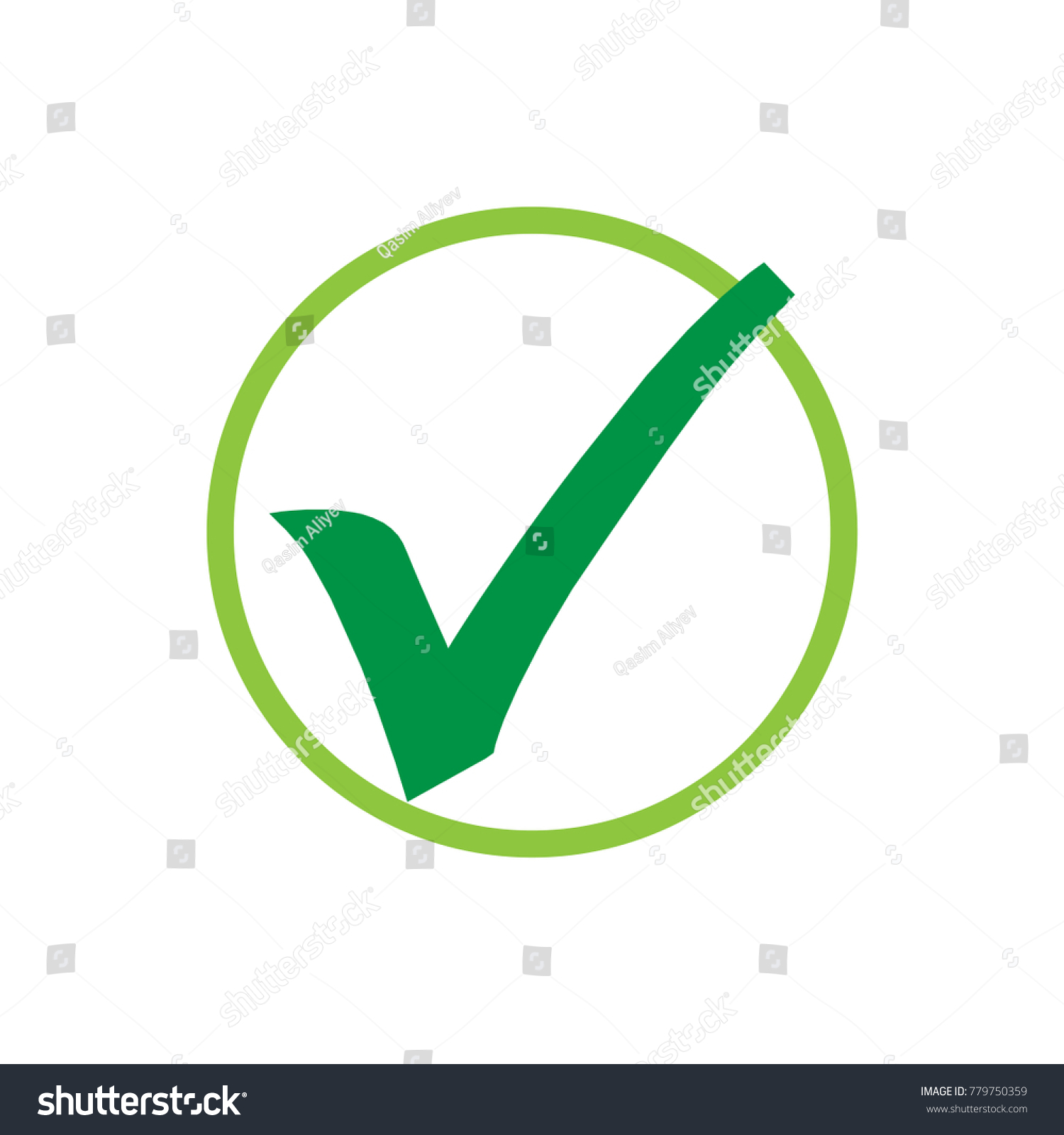 Green check mark icon tick symbol stock vector 779750359 shutterstock green check mark icon tick symbol in green color vector illustration biocorpaavc Image collections