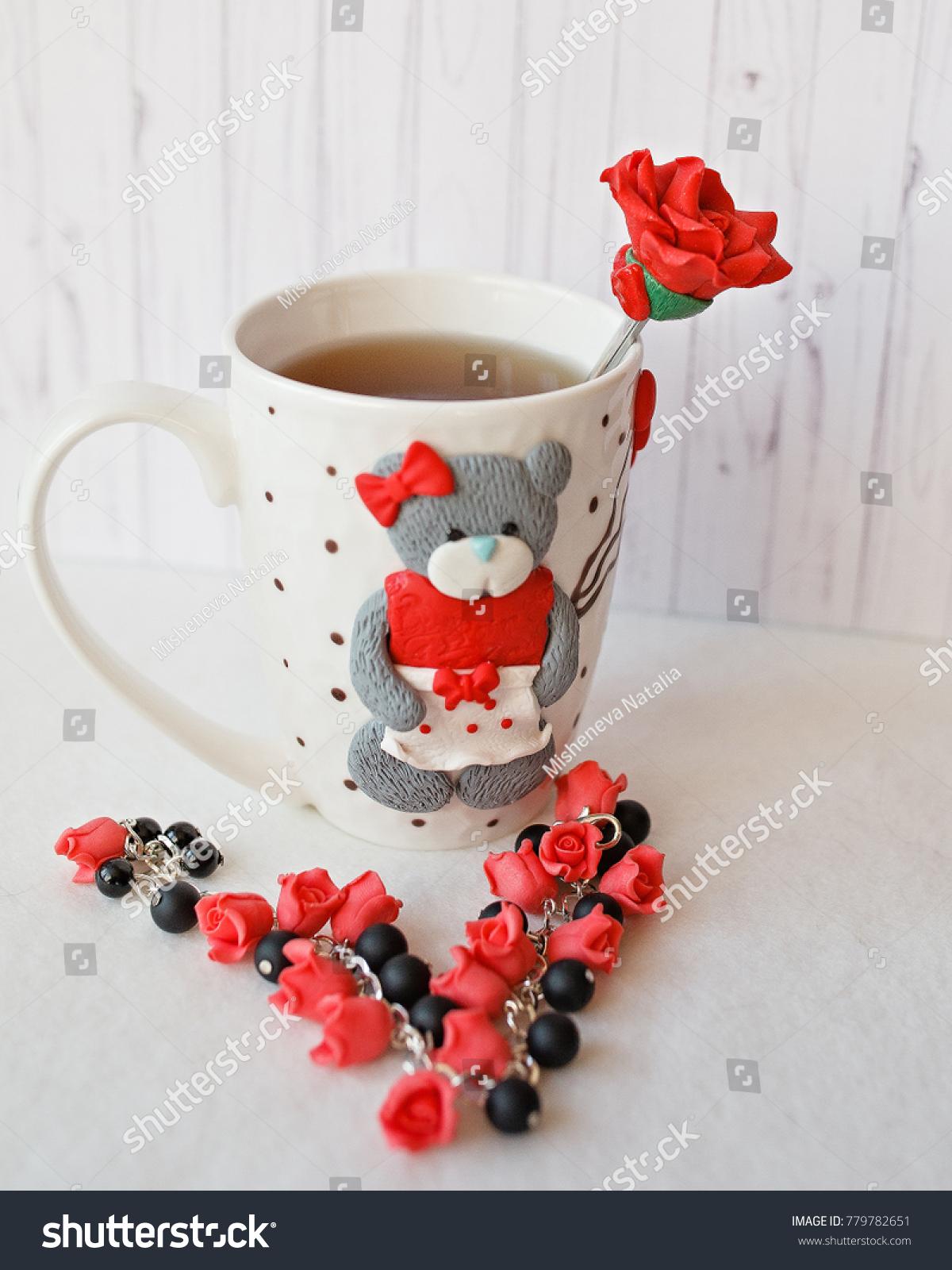 Polymer Clay Decor Happiness Mug Kitchen Stock Photo Edit Now 779782651