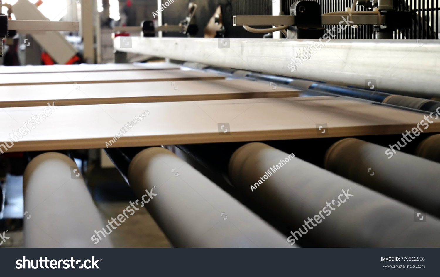 Factory production ceramic tiles process making stock photo factory for the production of ceramic tiles the process of making ceramic tiles conveyer dailygadgetfo Choice Image