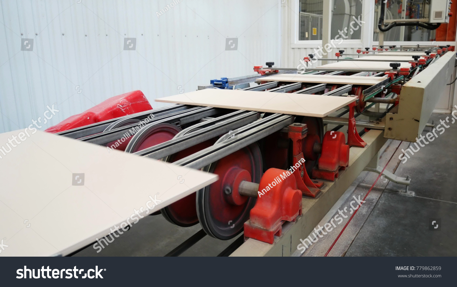 Factory Production Ceramic Tiles Process Making Stock Photo Royalty