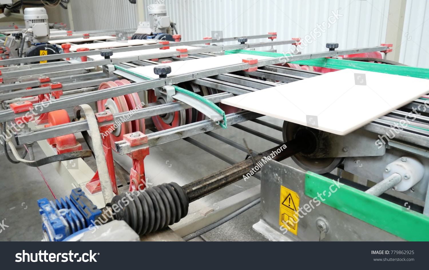 Factory production ceramic tiles process making stock photo factory for the production of ceramic tiles the process of making ceramic tiles conveyer dailygadgetfo Gallery
