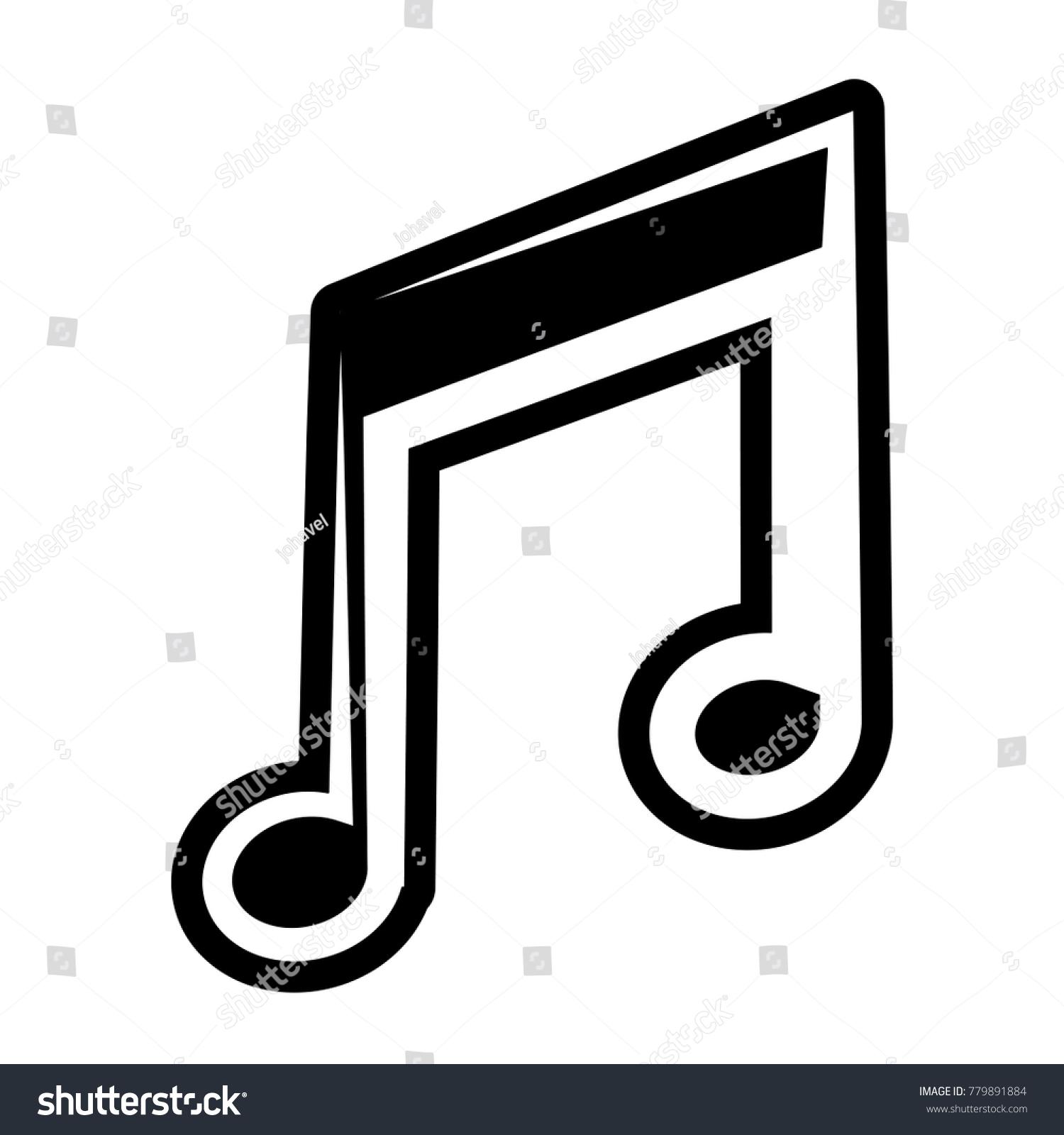 Music note symbol stock vector 779891884 shutterstock music note symbol biocorpaavc