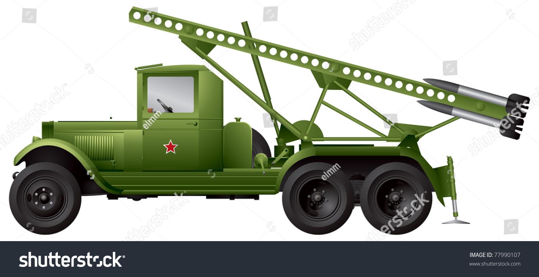 Katyusha Multiple Rocket Launchers Soviet Union Stock Vector