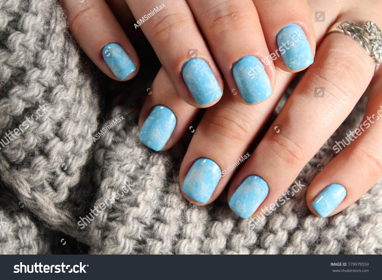 Closeup Woman Hands Nail Design Trendy Stock Photo (Royalty Free ...