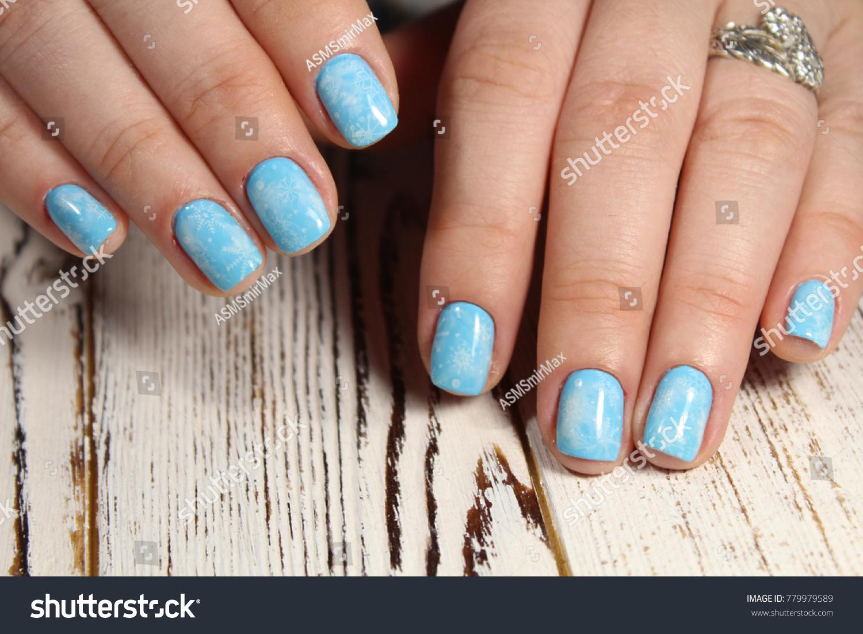 Closeup Woman Hands Nail Design Trendy Stock Photo 779979589 ...