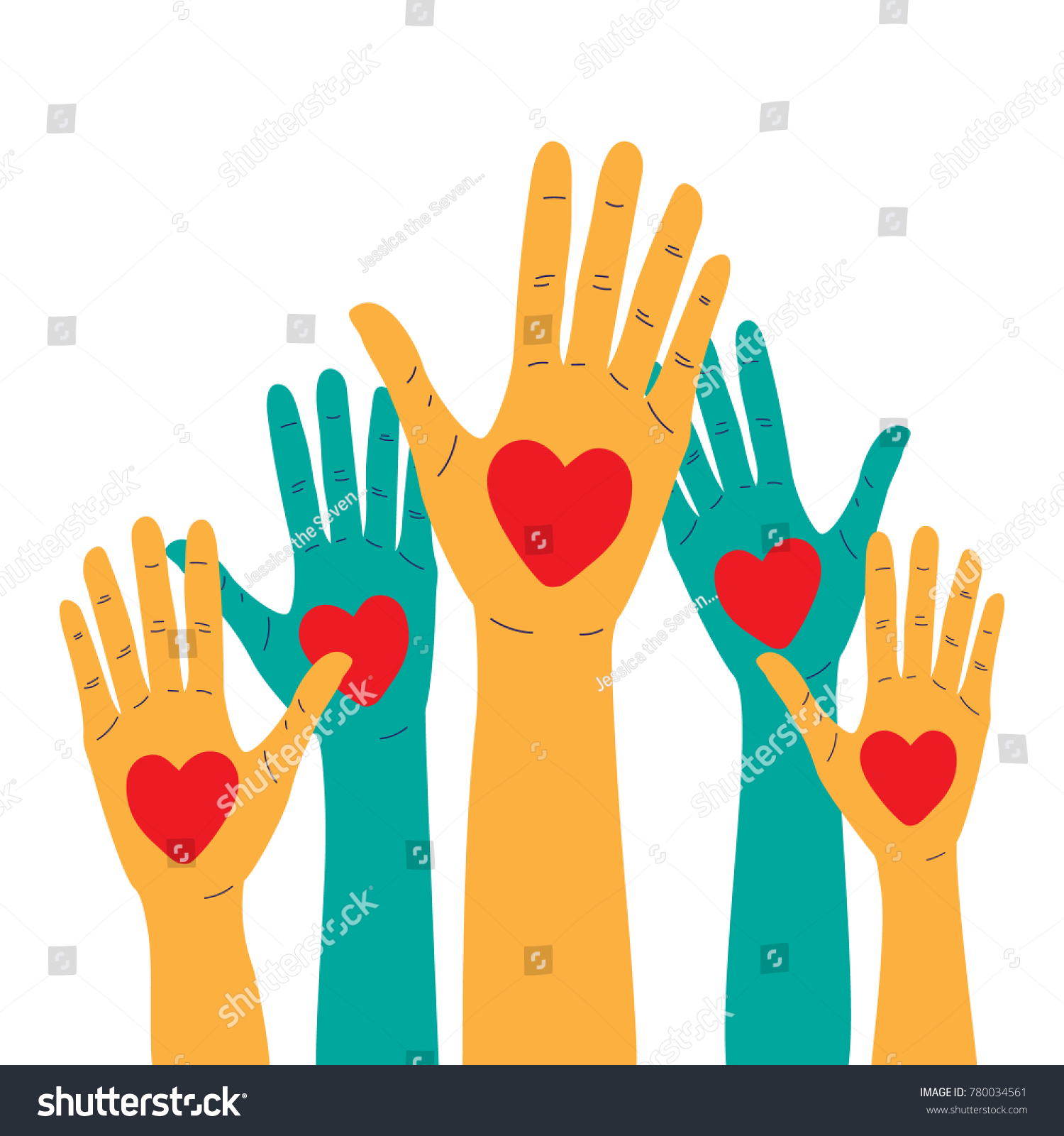 Human raised hands icons hearts blood stock vector 780034561 human raised hands with icons of hearts blood donation charity symbol or volunteering concept for buycottarizona Gallery