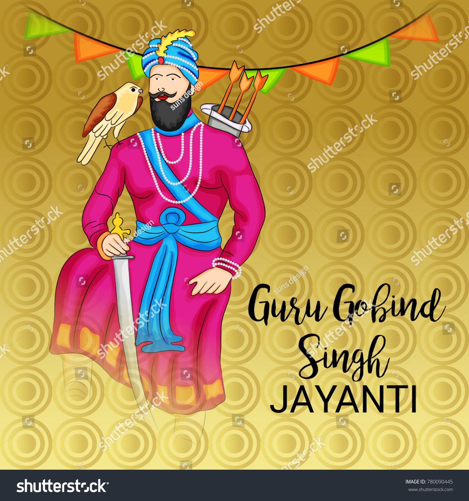 Vector Illustration Of A Banner For Happy Guru Gobind Singh Jayanti