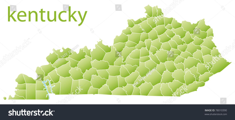 Map Kentucky State Usa Stock Illustration  Shutterstock - Map of kentucky usa