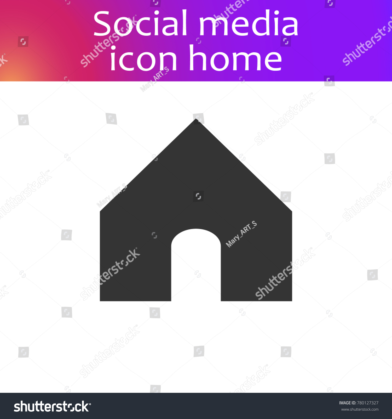 Instagram symbol text gallery symbol and sign ideas social media instagram icon home home stock vector 780127327 social media instagram icon home home button buycottarizona
