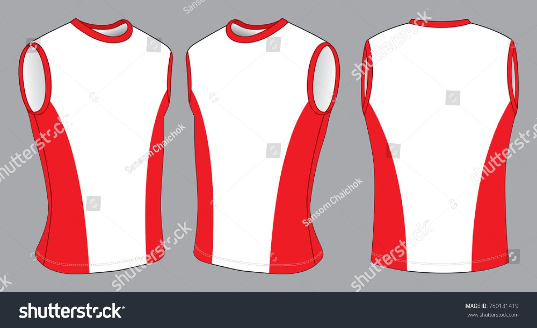 137616191fdde7 Mens Sleeveless Shirts Tank Tops White Red Stock Vector (Royalty ...