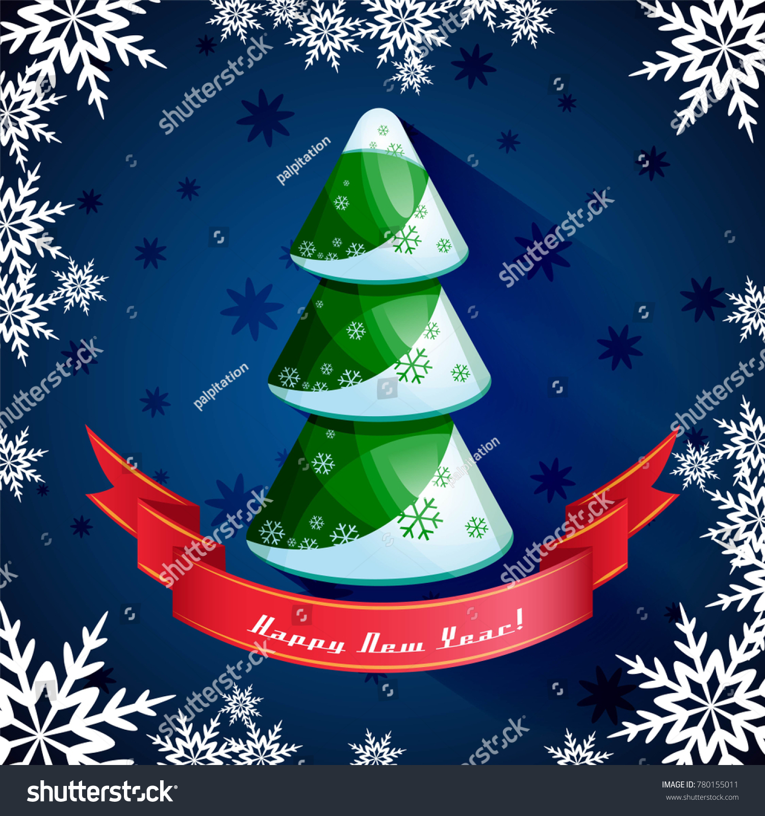 Merry Christmas Happy New Year 2018 Stock Vektorgrafik Lizenzfrei