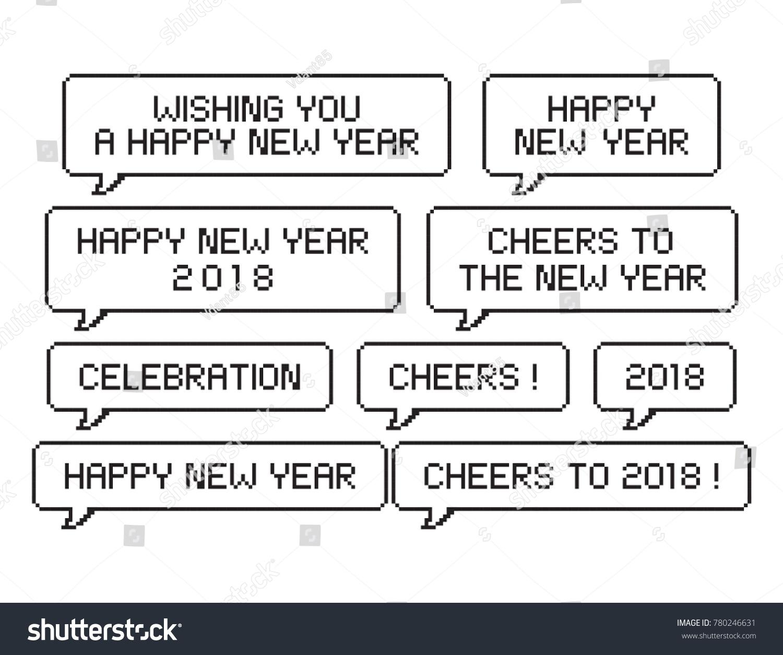 Happy New Year 2018 Pixel Art Stock Vector (Royalty Free) 780246631 ...