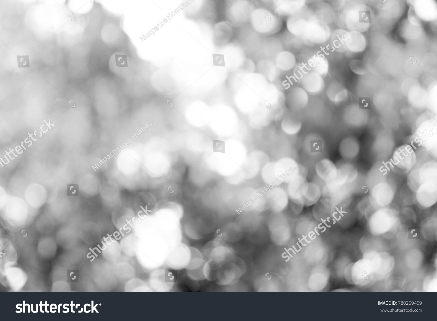 Black white Bokeh background. #780259459