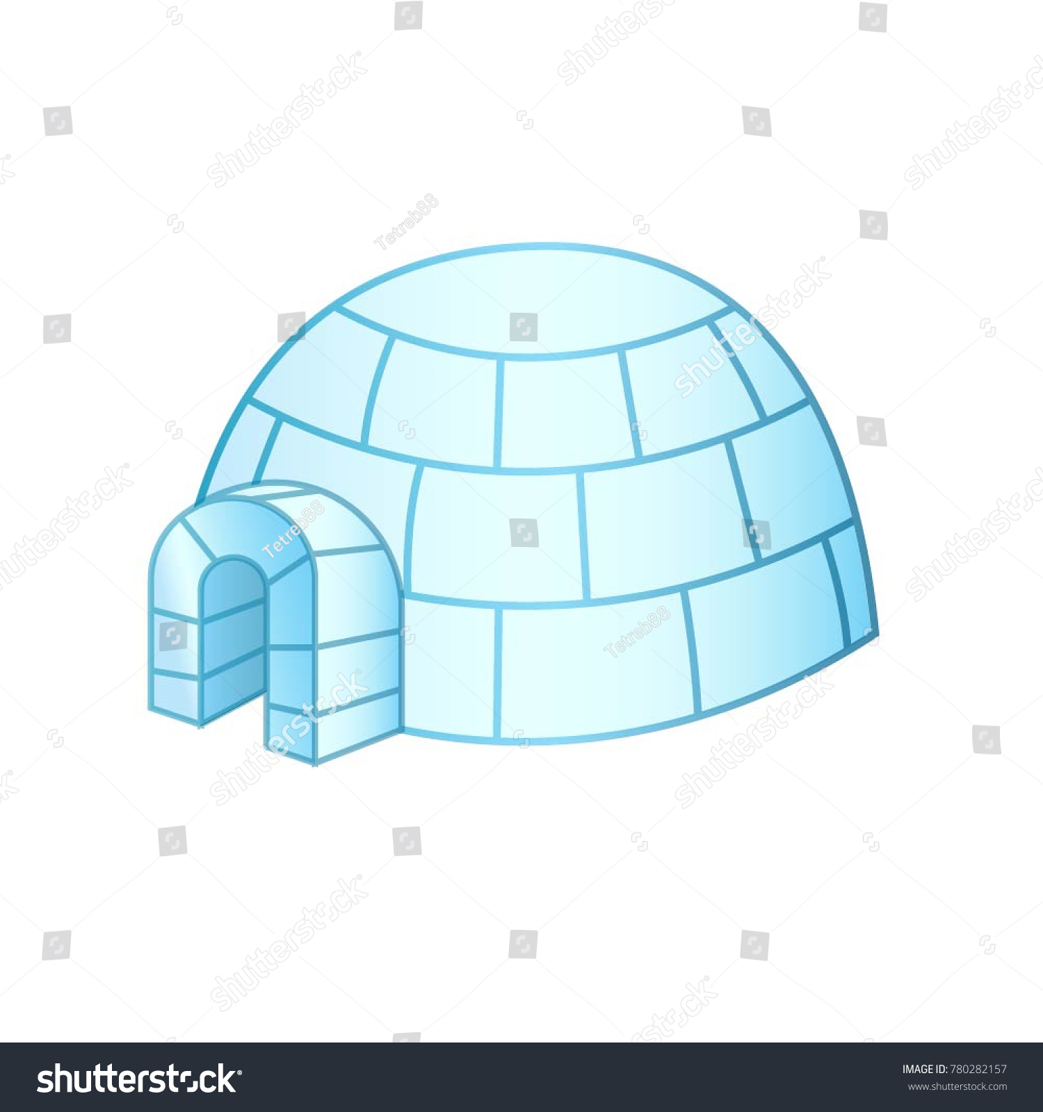 Igloo ice house greenland canada stock vector 780282157 shutterstock igloo ice house in greenland and canada pooptronica