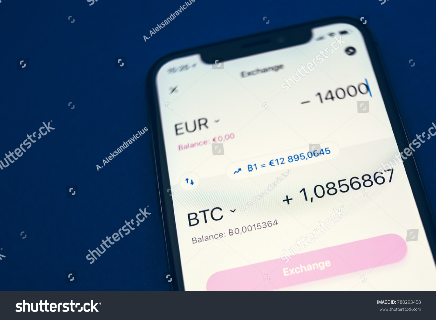 Kaunas lithuania december 23 2017 exchange stock photo edit now kaunas lithuania december 23 2017 exchange rate of bitcoin view of ccuart Choice Image