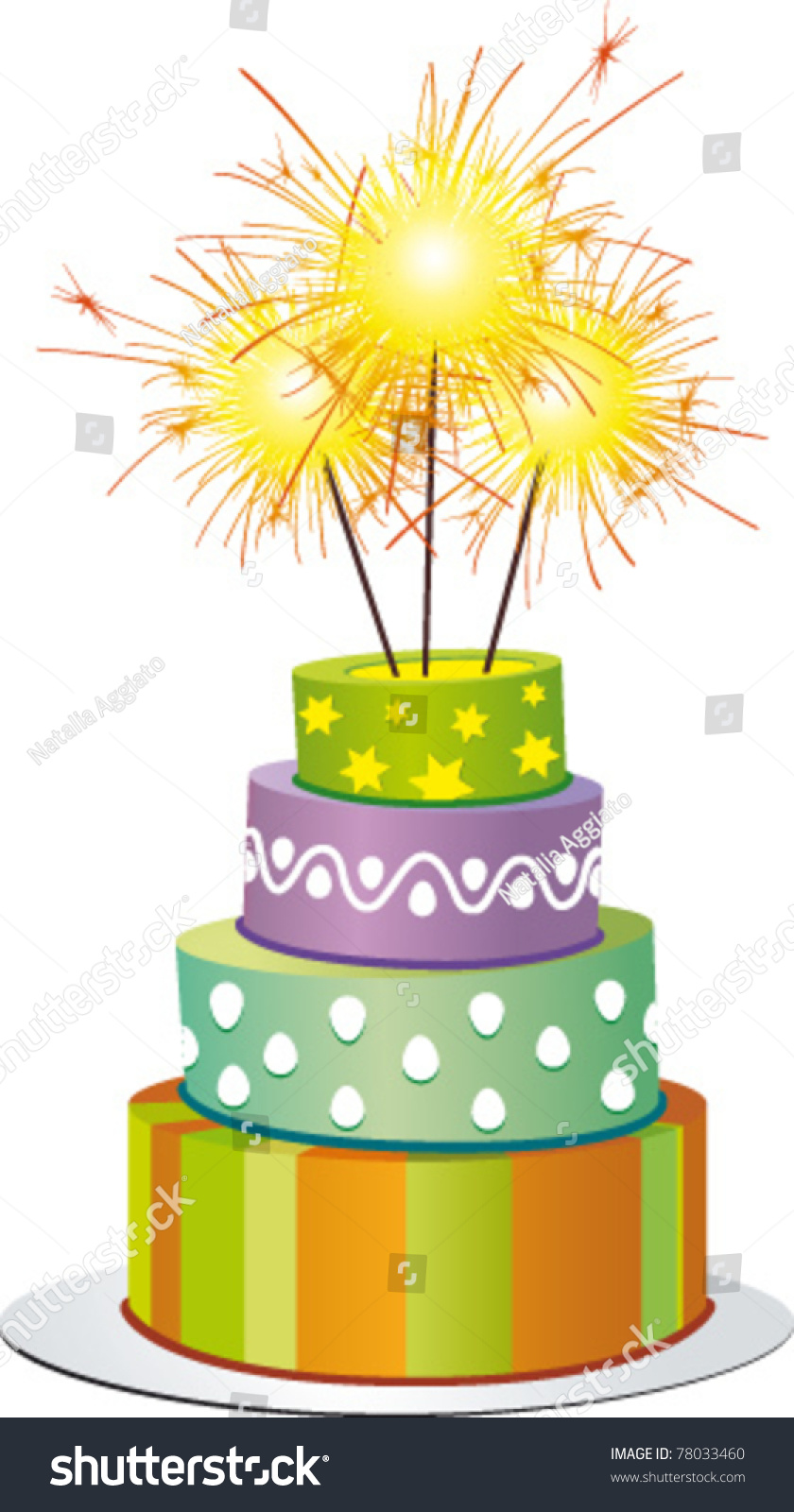 Fancy Cake Fires Stock Vector Royalty Free 78033460 Shutterstock