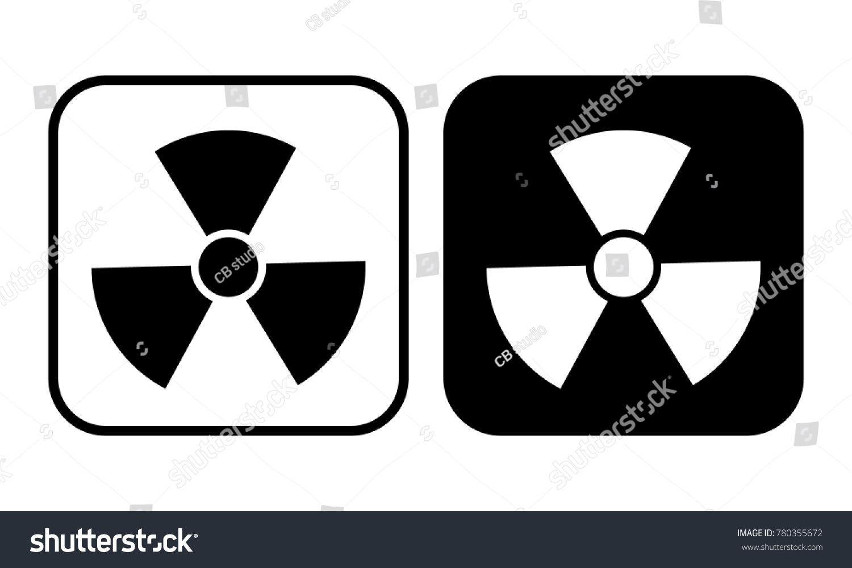 Radioactive symbol set stock vector 780355672 shutterstock radioactive symbol set buycottarizona