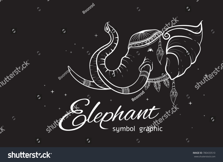 Head Elephant Symbol Graphic Thailand Vector Stock Photo Photo
