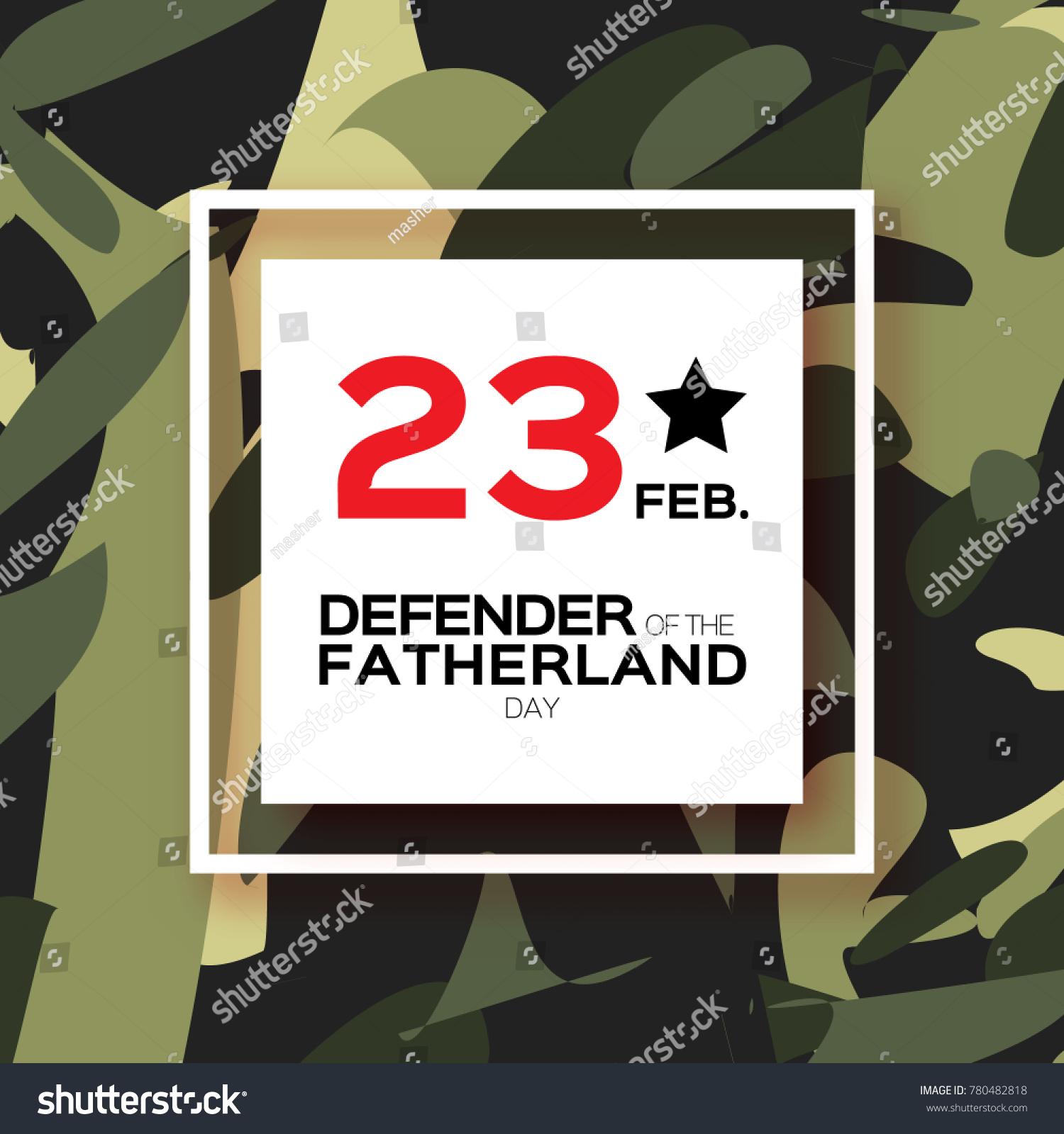 Happy Defender Fatherland Day 23 February Stock Illustration