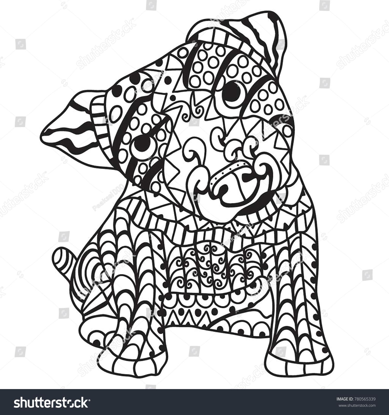Capybara rodent animal coloring book vector illustration. Black and ...