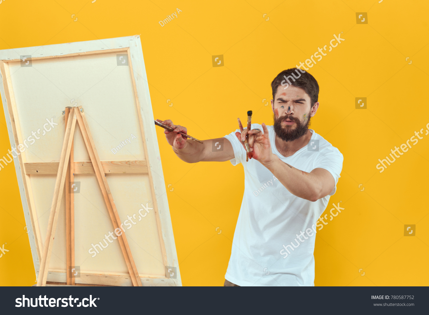 Artist Easel Drawing Art Stock Photo & Image (Royalty-Free ...