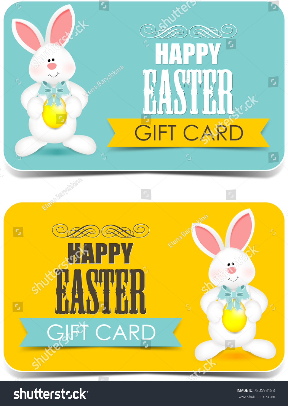 Happy easter gift cards cute bunny stock illustration 780593188 happy easter gift cards cute bunny negle Choice Image