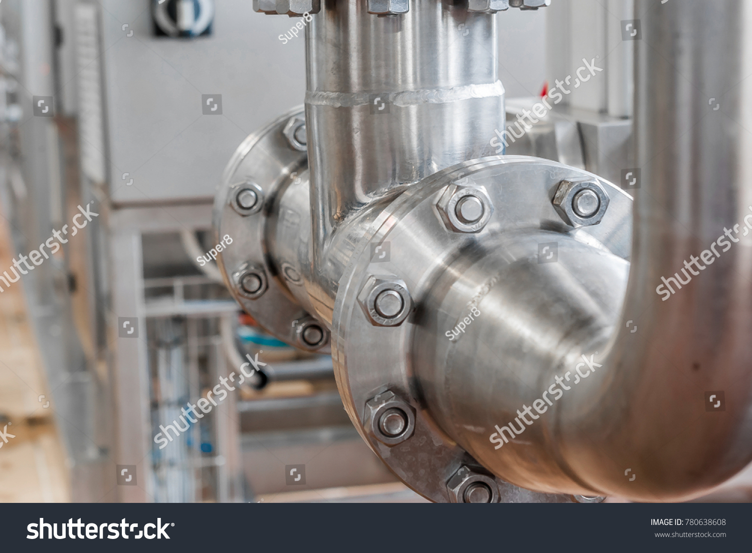 stock-photo-connection-of-stainless-stee