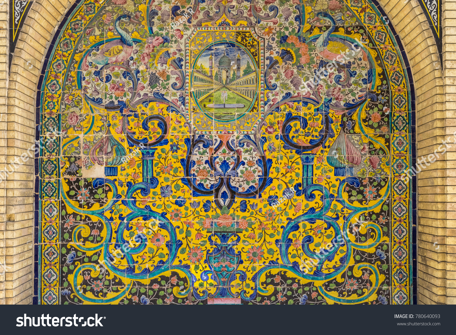 Tehran Iran CIRCA August 2017 View Mosaic Stock Photo & Image ...