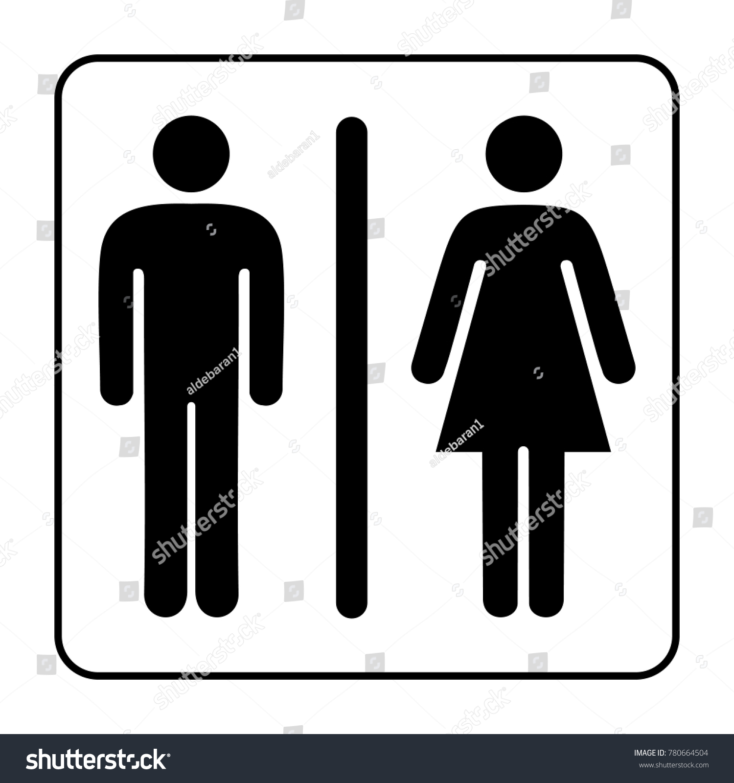 Toilet Man Woman Icon Logo Stock Vector (Royalty Free) 780664504 ...