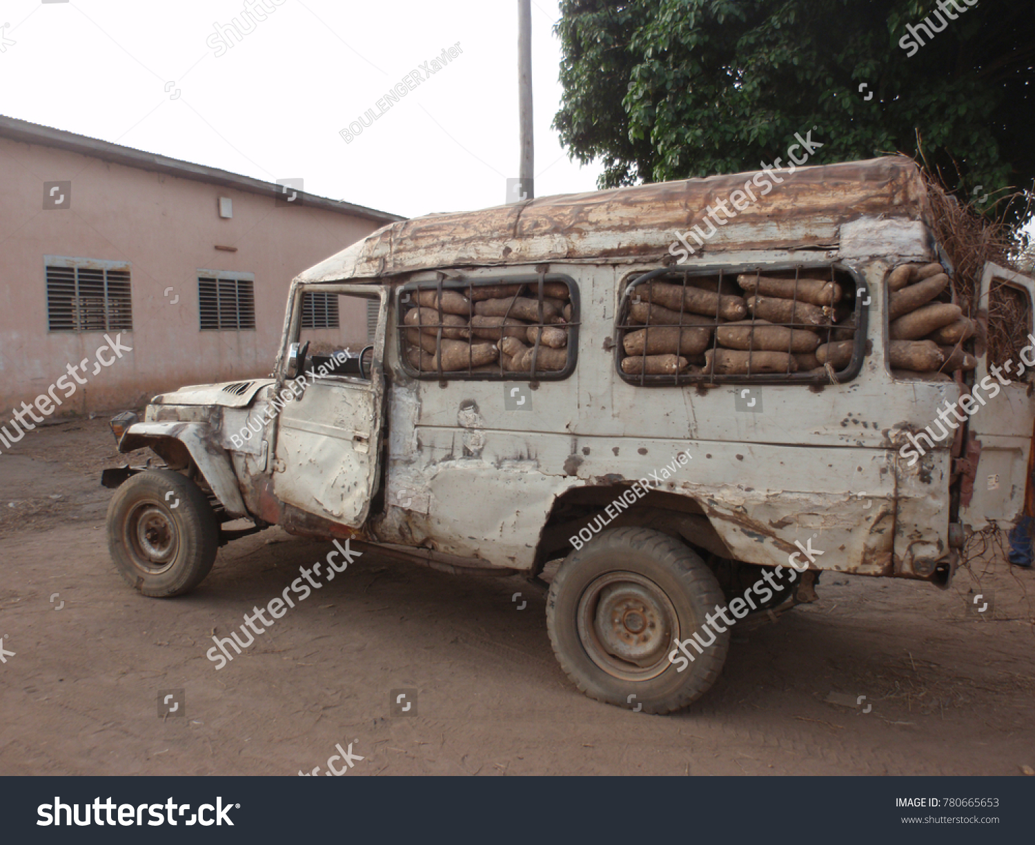 Very Old Car Used Transportation Yams Stock Photo (Royalty Free ...