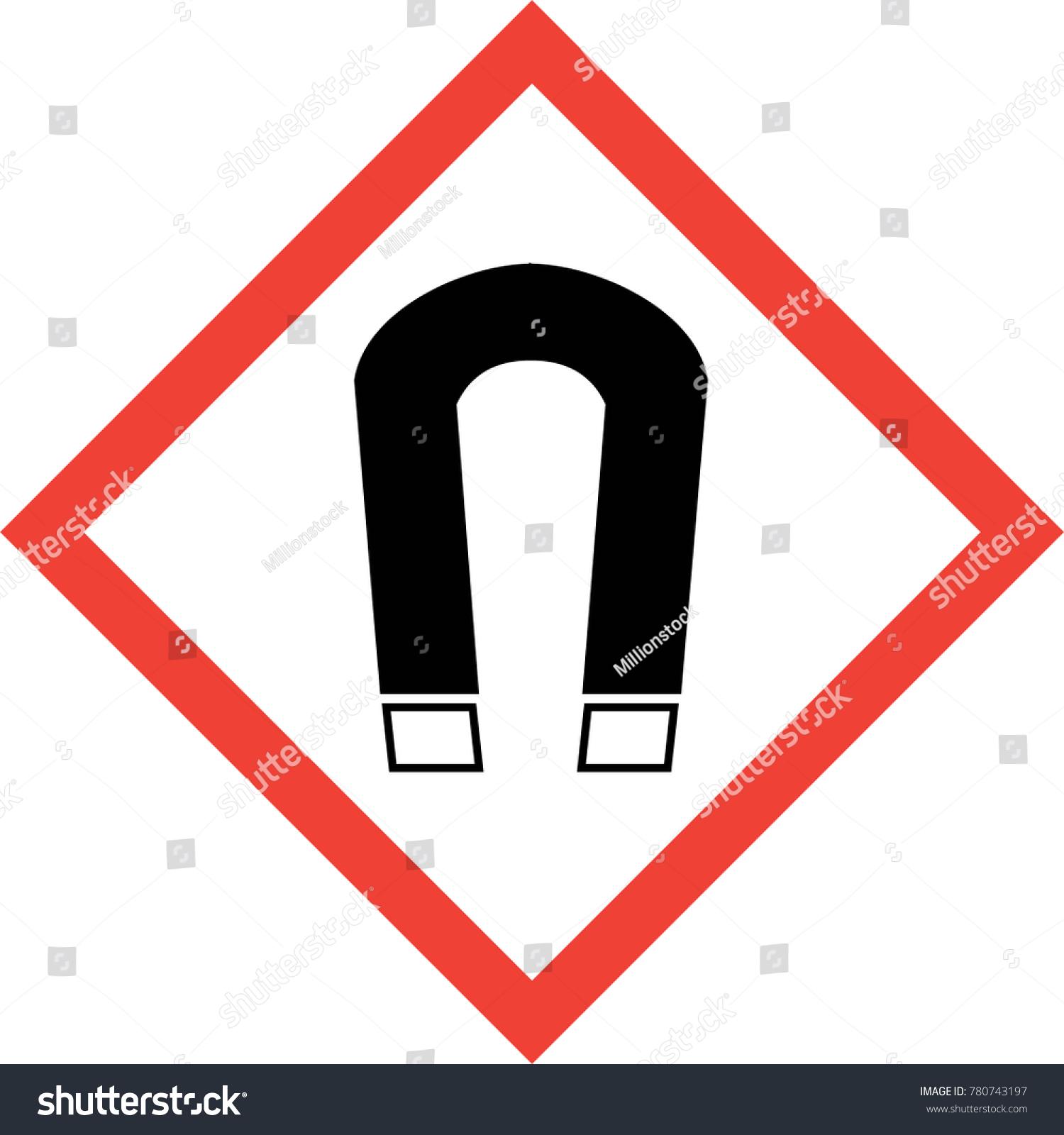 Royalty Free Stock Illustration Of Hazard Sign Magnetic Field Symbol